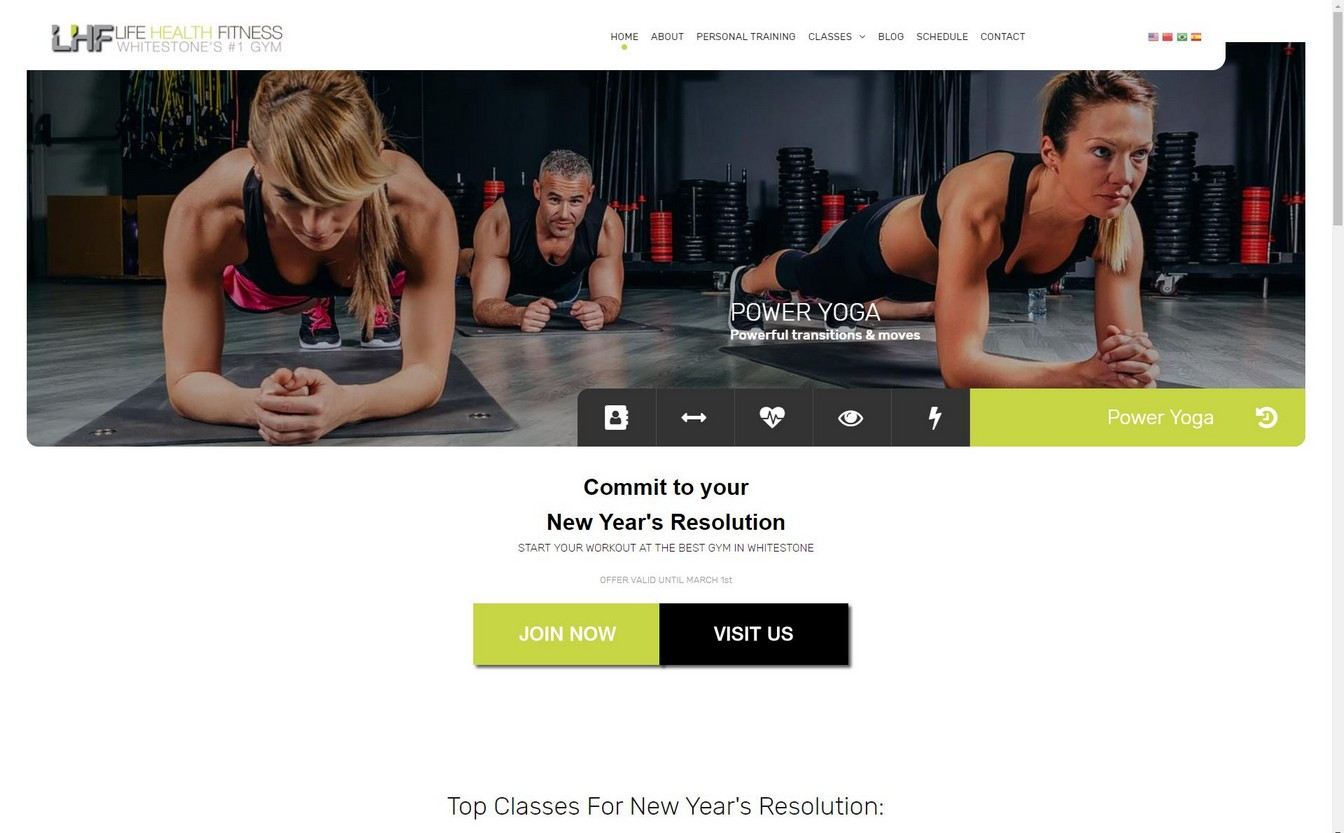 Life Health Fitness Website New