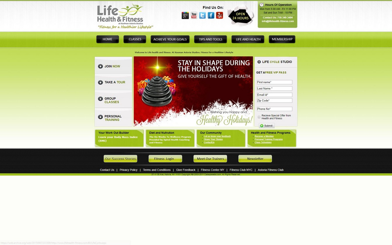 Life Health Fitness Website Old