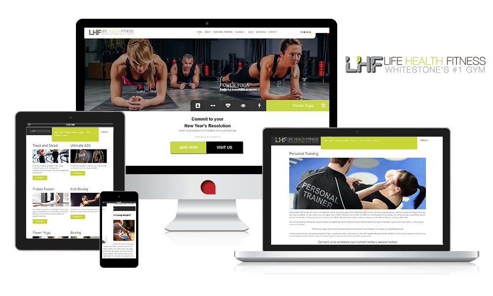 the web empire life health fitness fully responsive design