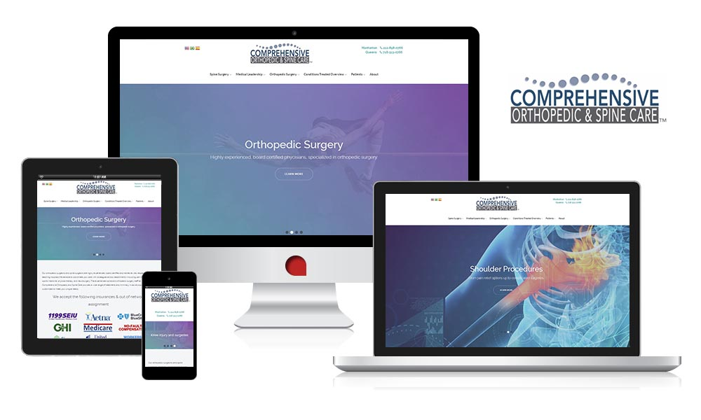 comprehensive orthopedic center ny medical responsive website