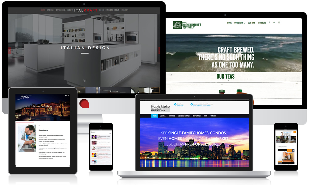 Website Design & Development Responsive Multi Device Example