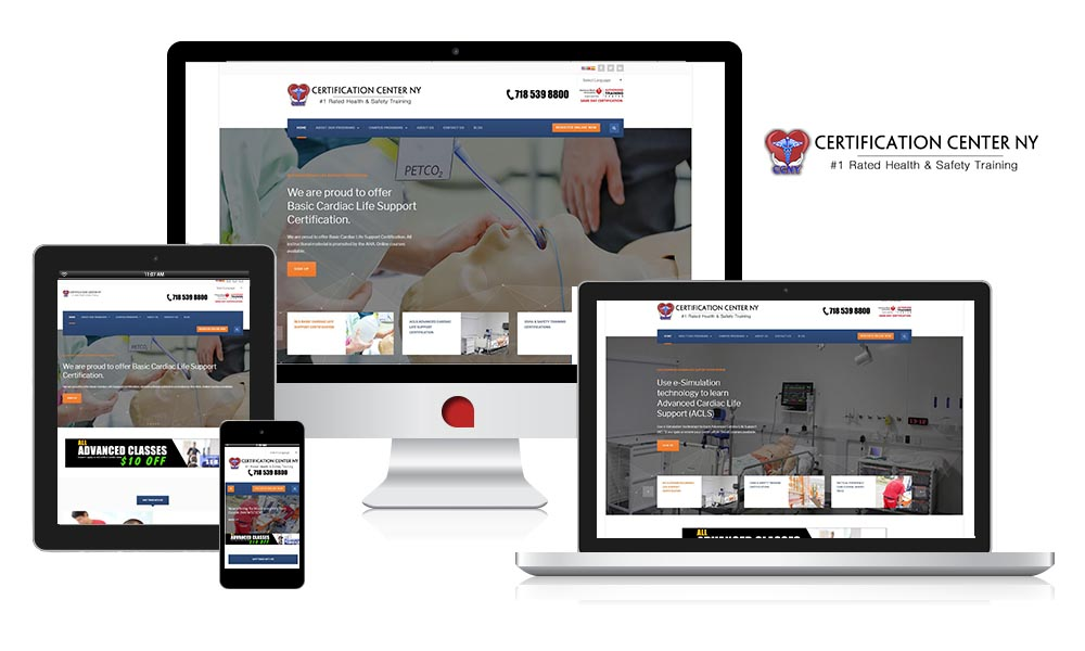 the certification center case study the web empire responsive website
