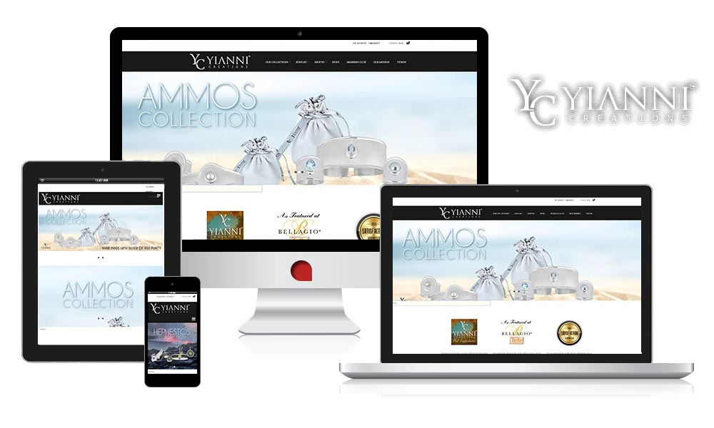 yanni creations fully responsive ecommerce website ny